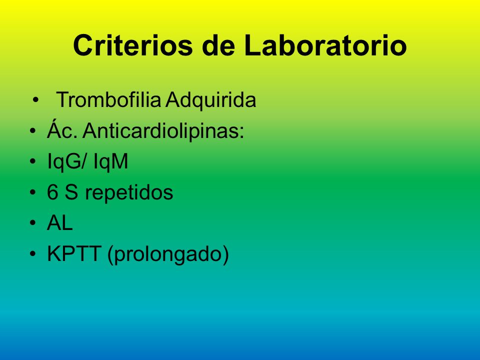 Criterios de Laboratorio
