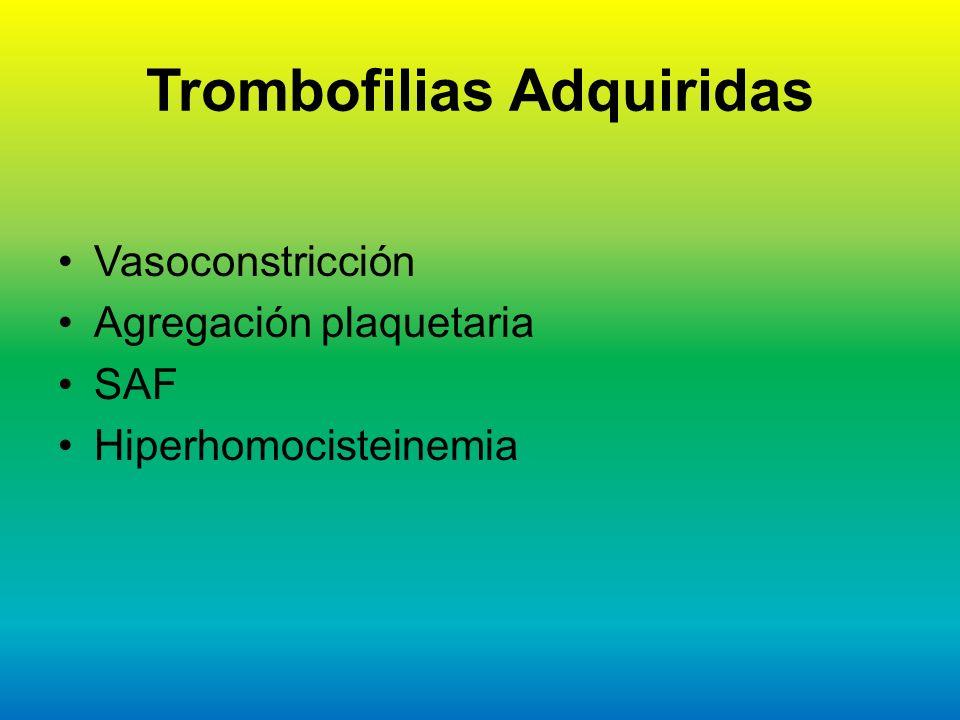 Trombofilias Adquiridas