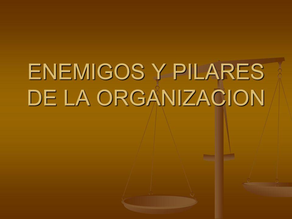 ENEMIGOS Y PILARES DE LA ORGANIZACION
