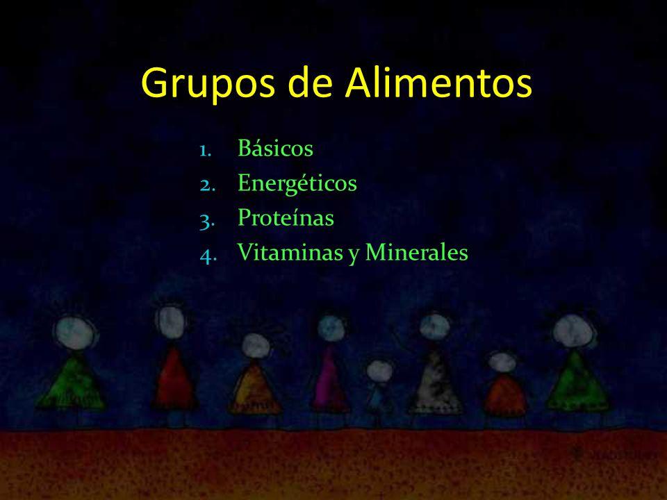 Grupos de Alimentos Básicos Energéticos Proteínas