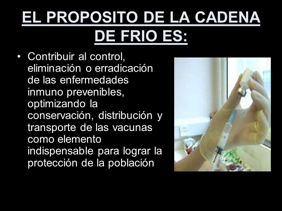 EL PROPOSITO DE LA CADENA DE FRIO ES: