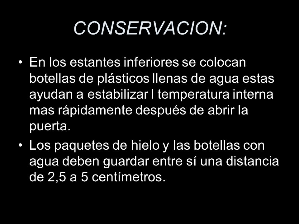 CONSERVACION: