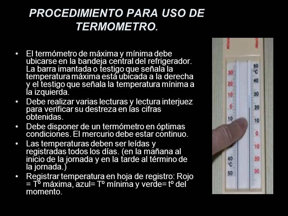 PROCEDIMIENTO PARA USO DE TERMOMETRO.