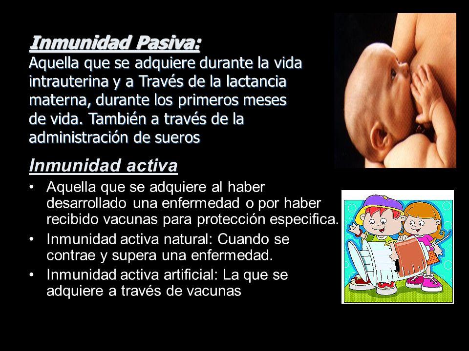 Inmunidad Pasiva: Inmunidad activa