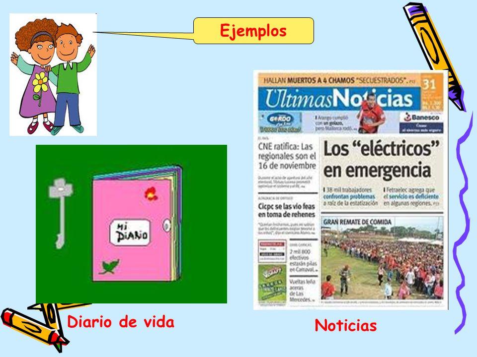 Ejemplos Diario de vida Noticias