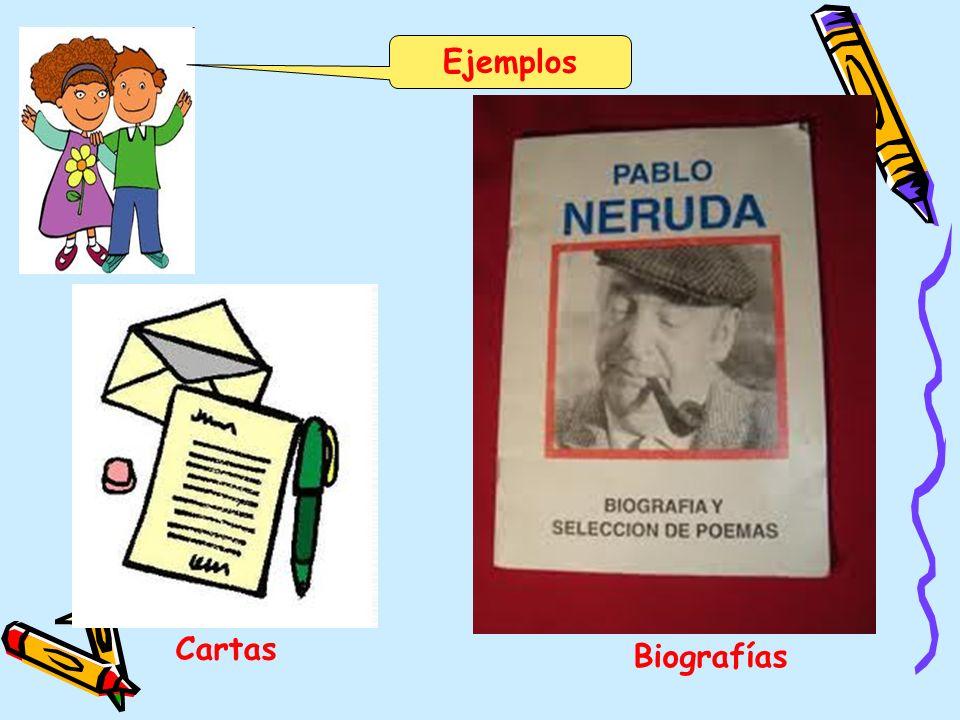 Ejemplos Cartas Biografías