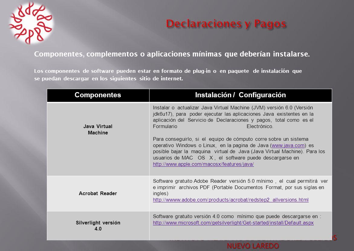 Instalación / Configuración