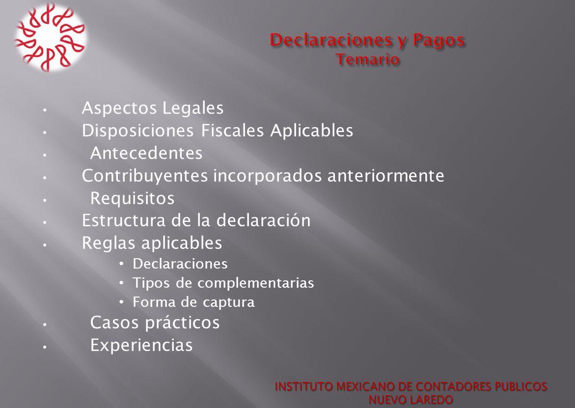 Declaraciones y Pagos Temario