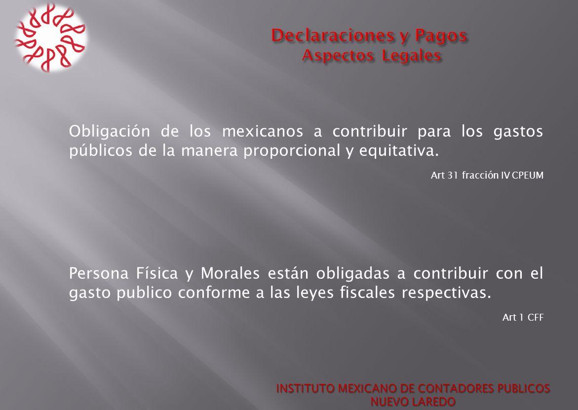 Declaraciones y Pagos Aspectos Legales
