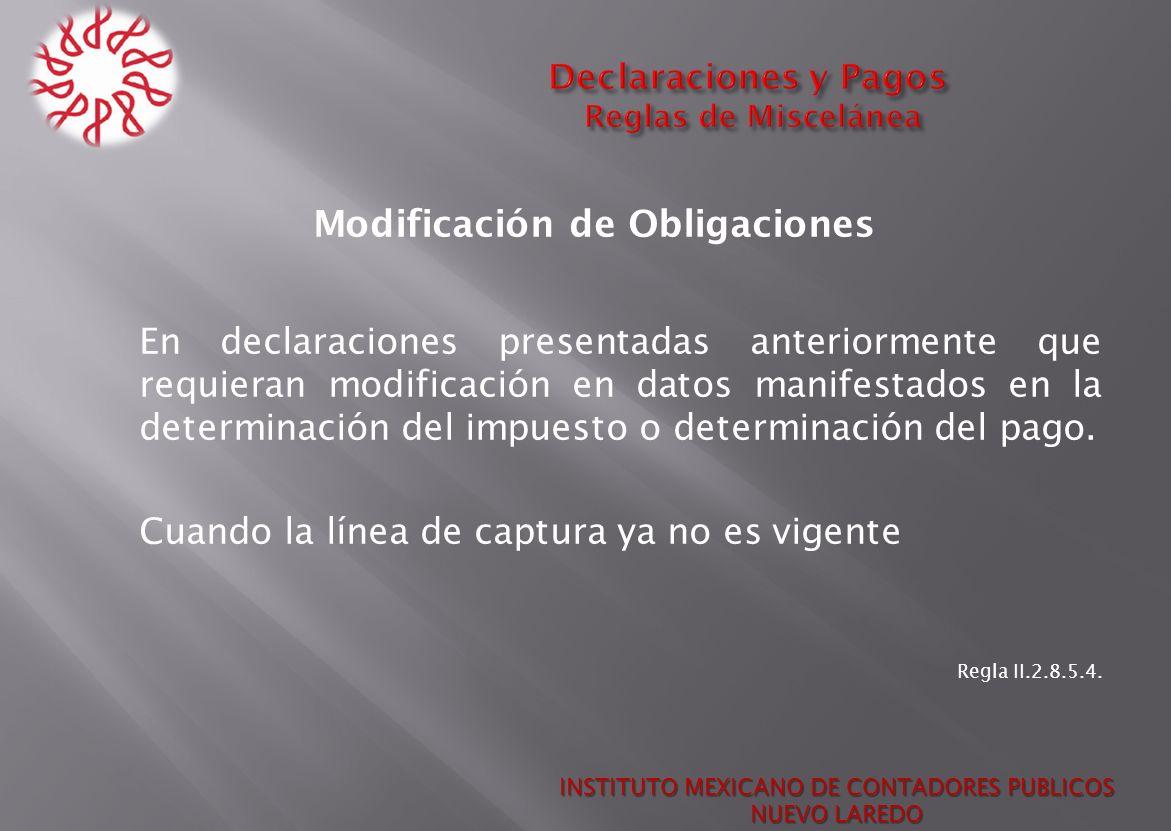 Declaraciones y Pagos Reglas de Miscelánea