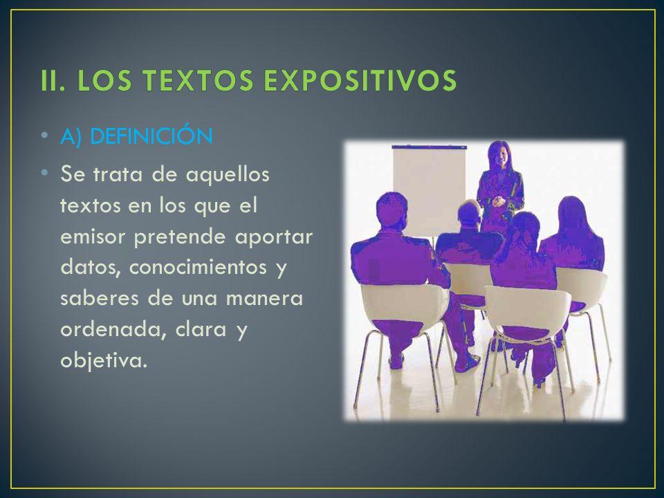 II. LOS TEXTOS EXPOSITIVOS