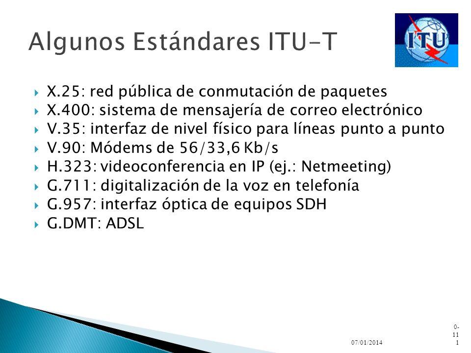 Algunos Estándares ITU-T