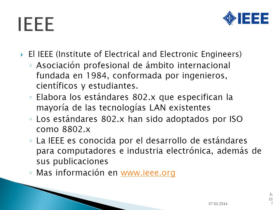 IEEE El IEEE (Institute of Electrical and Electronic Engineers)
