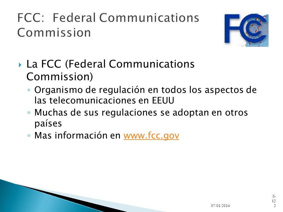 FCC: Federal Communications Commission
