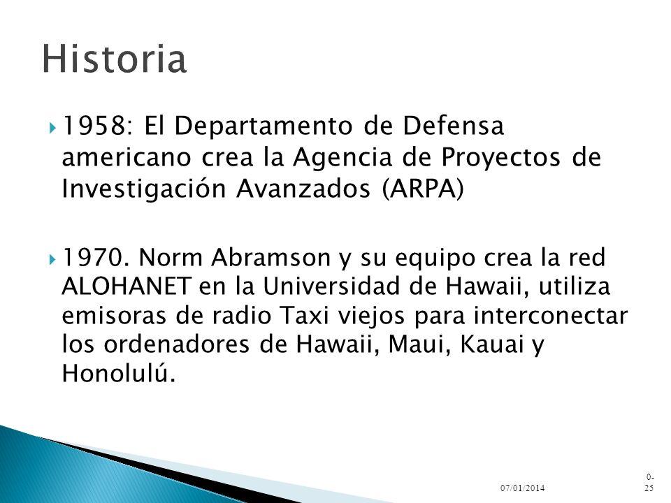 Historia1958: El Departamento de Defensa americano crea la Agencia de Proyectos de Investigación Avanzados (ARPA)