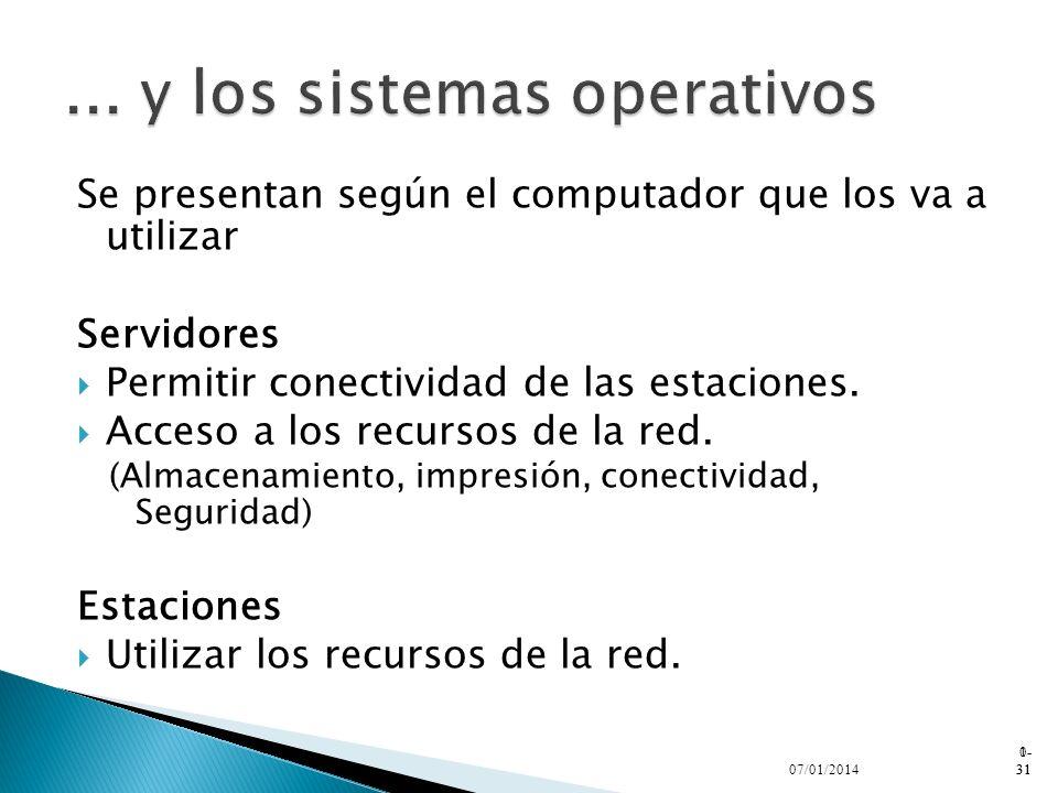 ... y los sistemas operativos