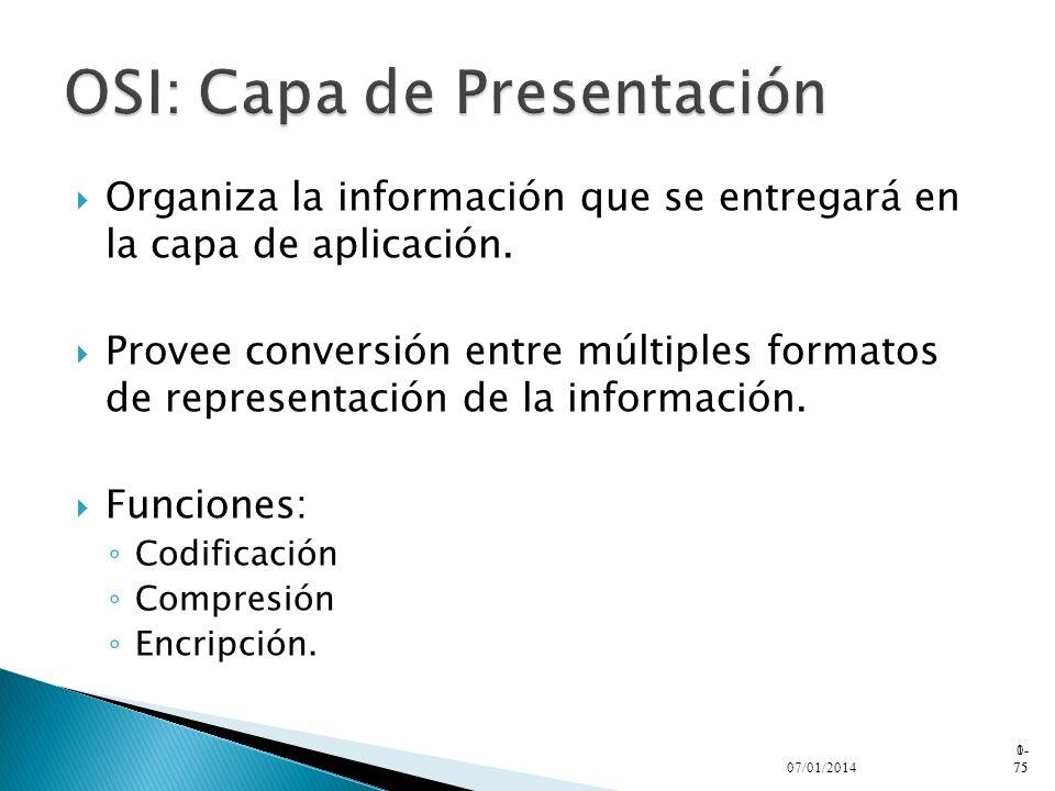 OSI: Capa de Presentación