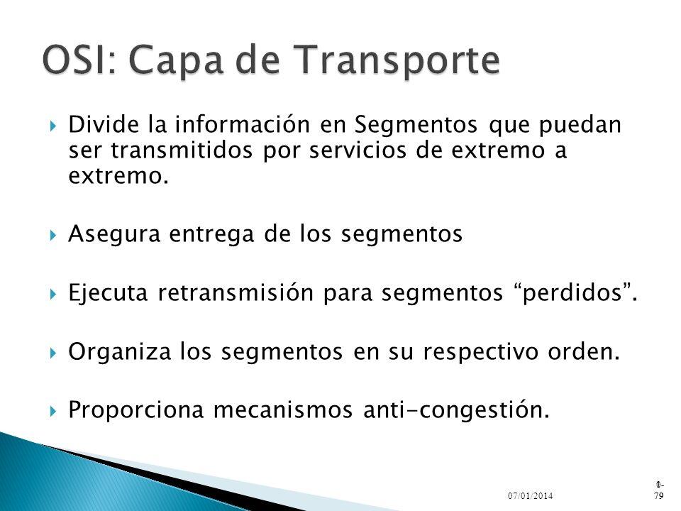 OSI: Capa de Transporte