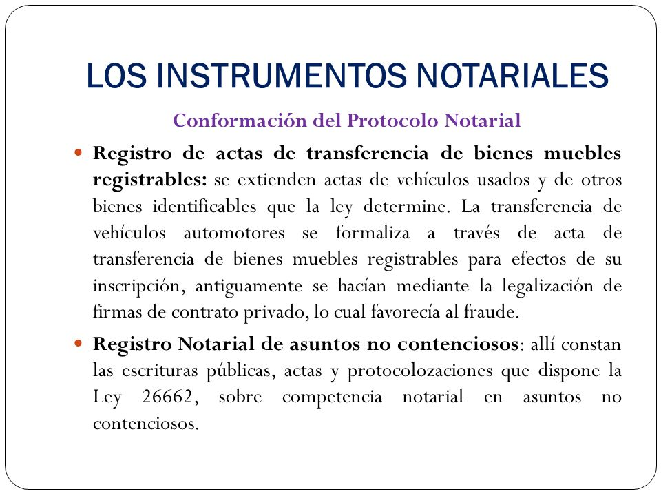 Registro De Bienes Muebles : Derecho notarial parte general ppt descargar