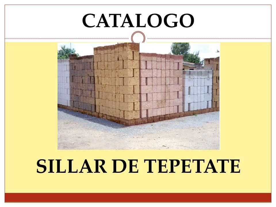 CATALOGO SILLAR DE TEPETATE