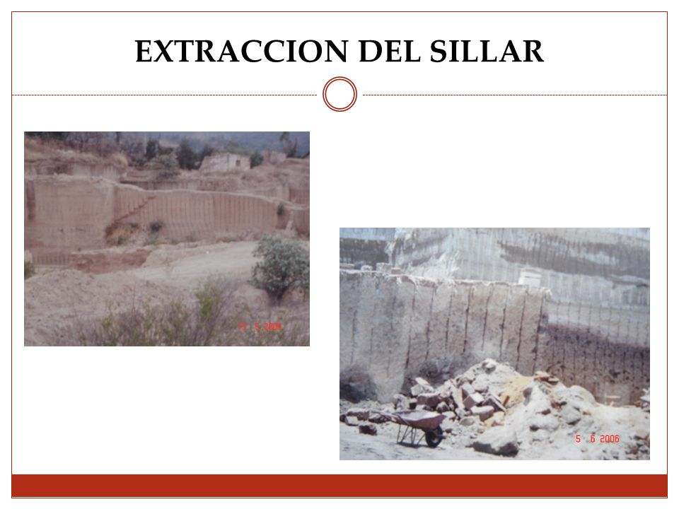 EXTRACCION DEL SILLAR