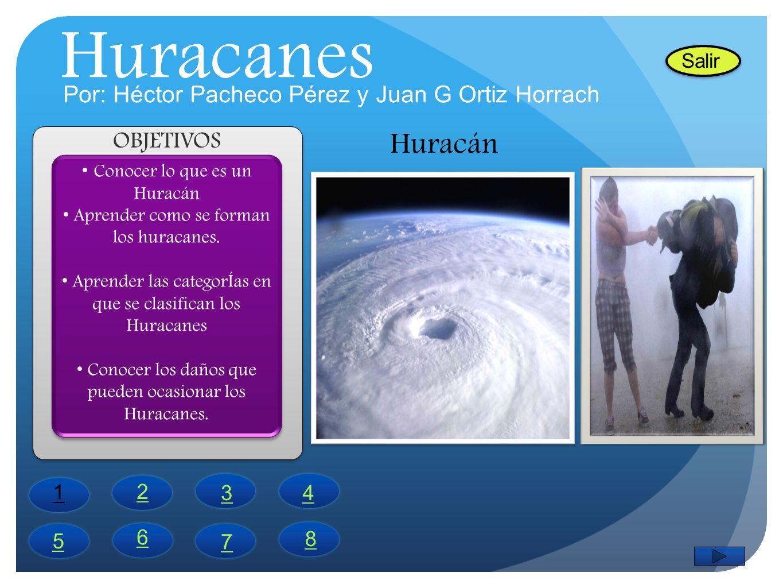 Huracanes Huracán Por: Héctor Pacheco Pérez y Juan G Ortiz Horrach
