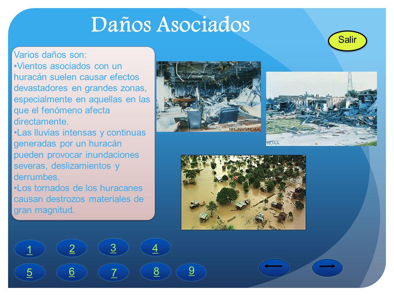 Daños Asociados 2 3 4 1 8 9 5 6 7 Salir Varios daños son: