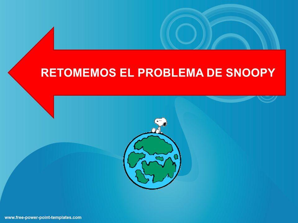 RETOMEMOS EL PROBLEMA DE SNOOPY