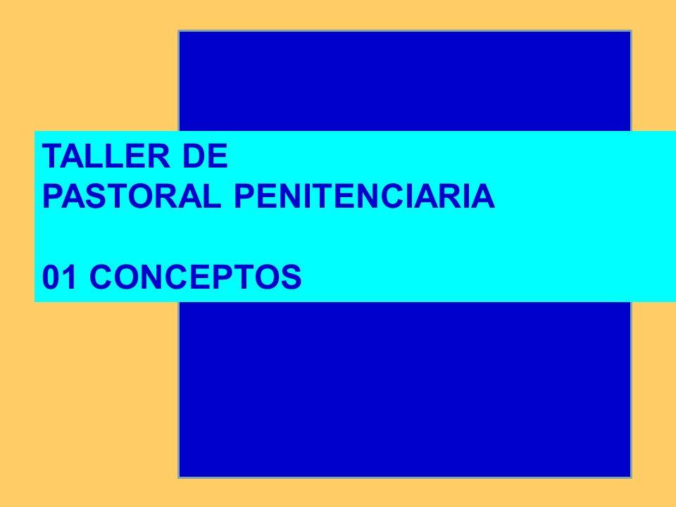 TALLER DE PASTORAL PENITENCIARIA 01 CONCEPTOS