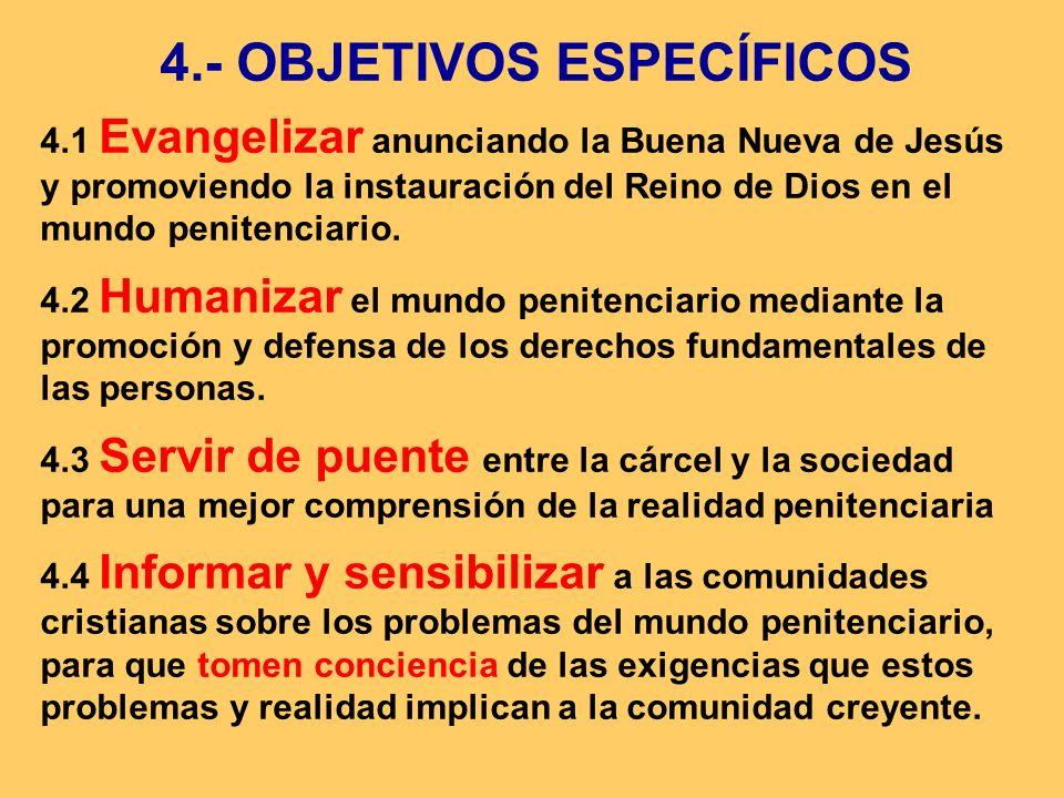 4.- OBJETIVOS ESPECÍFICOS