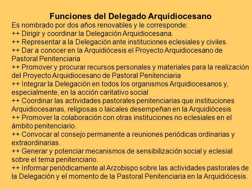 Funciones del Delegado Arquidiocesano