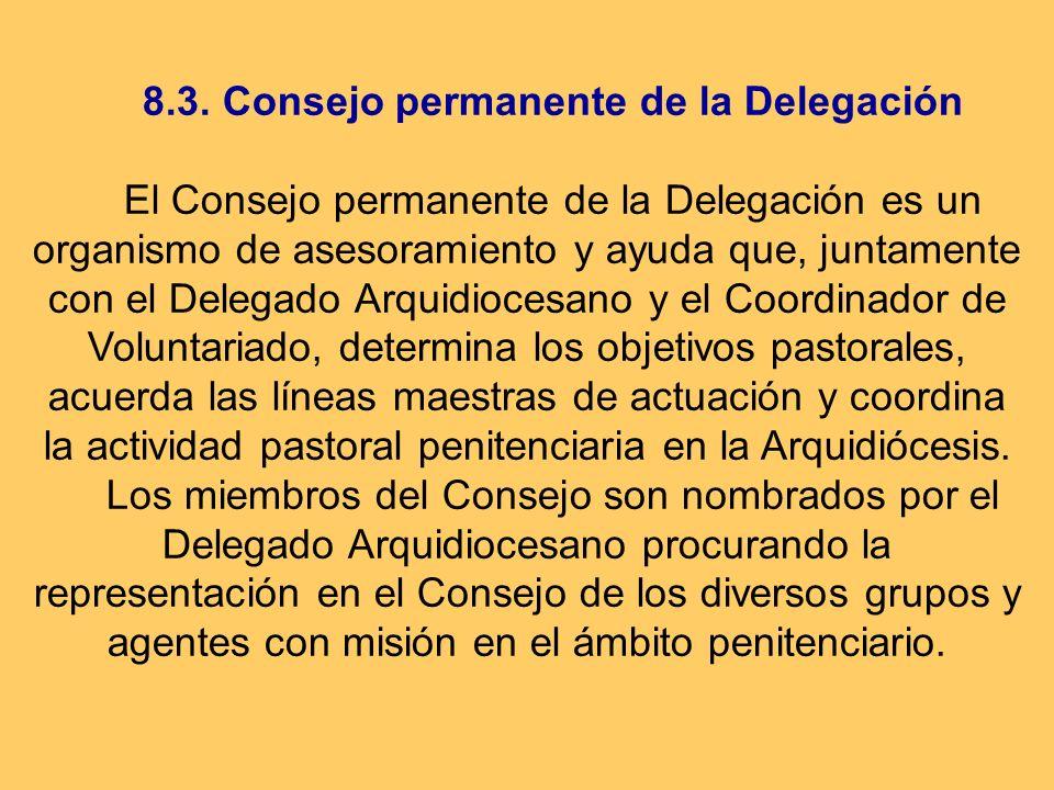 8.3. Consejo permanente de la Delegación