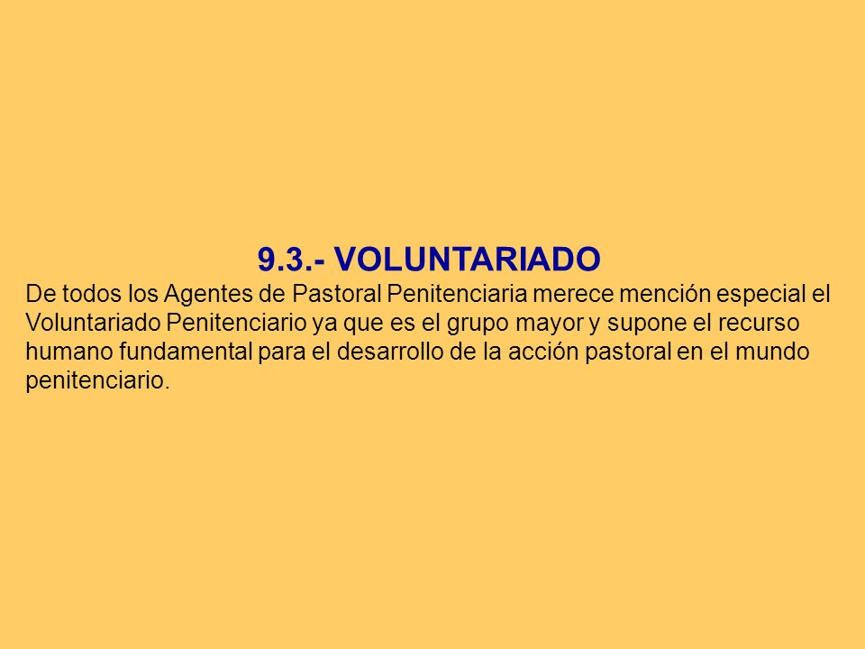 9.3.- VOLUNTARIADO