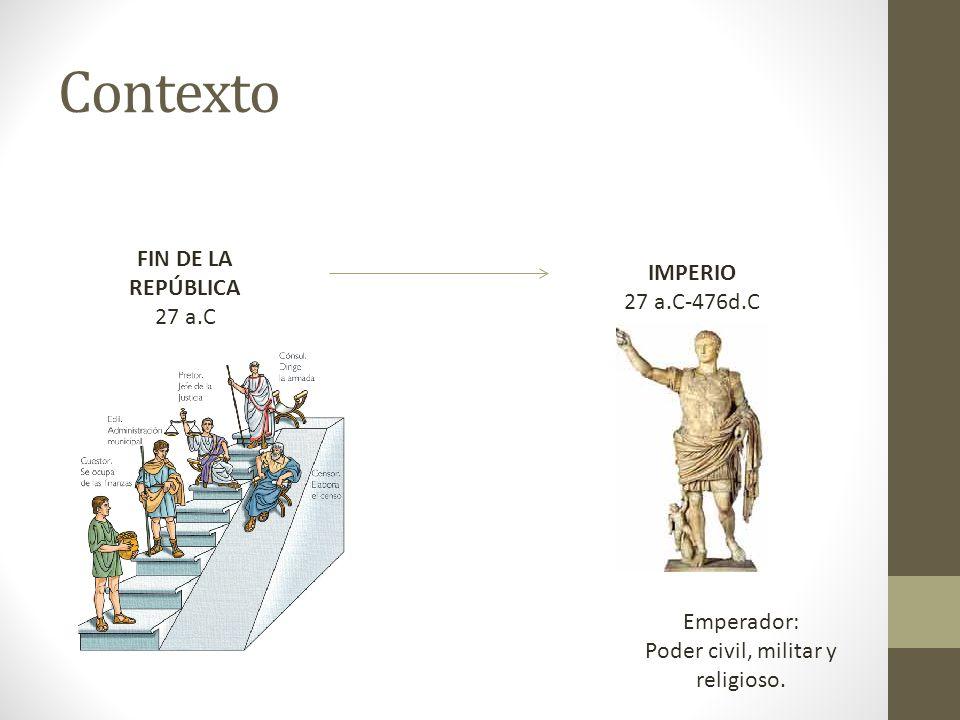 Poder civil, militar y religioso.