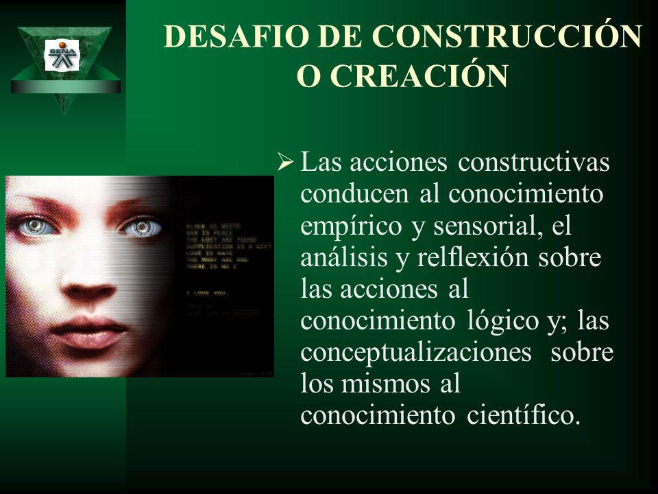 DESAFIO DE CONSTRUCCIÓN O CREACIÓN