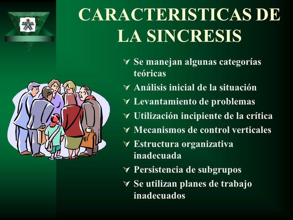CARACTERISTICAS DE LA SINCRESIS