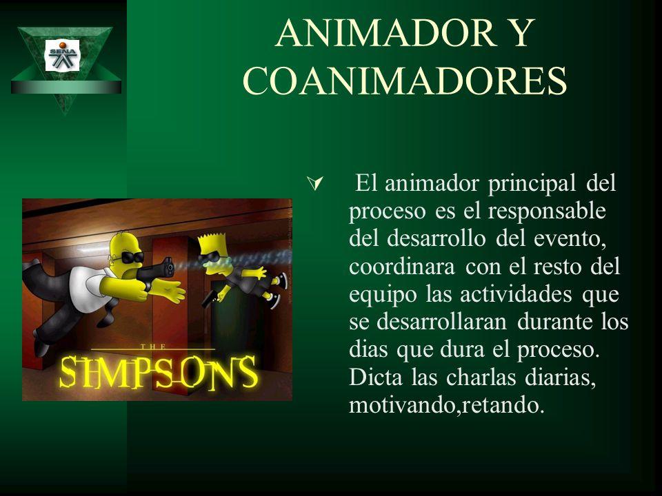 ANIMADOR Y COANIMADORES