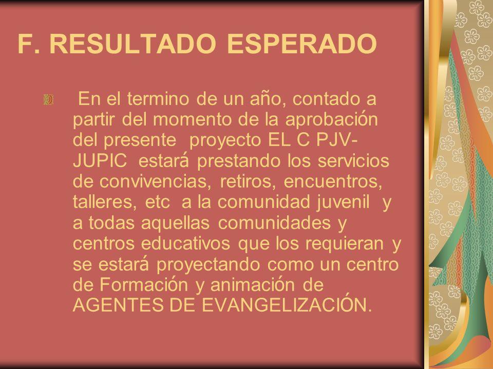 F. RESULTADO ESPERADO