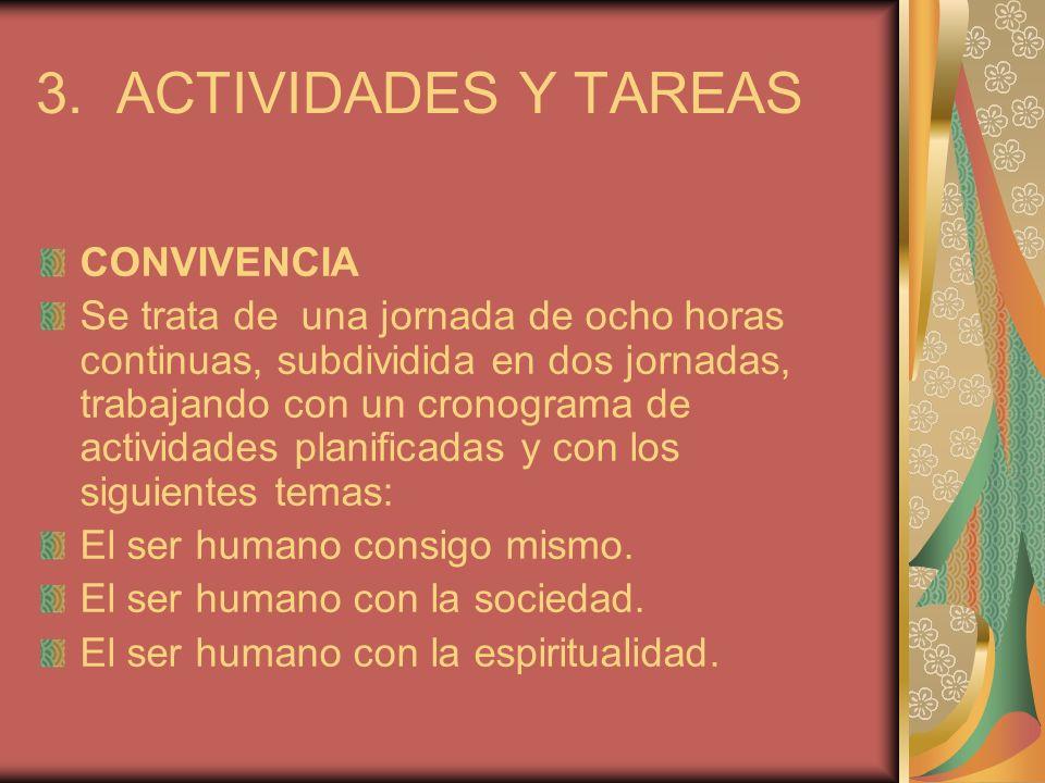 3. ACTIVIDADES Y TAREAS CONVIVENCIA