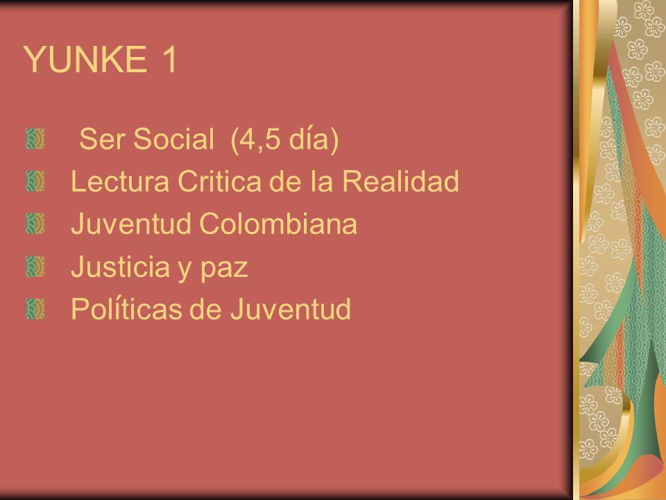 YUNKE 1 Ser Social (4,5 día) Lectura Critica de la Realidad