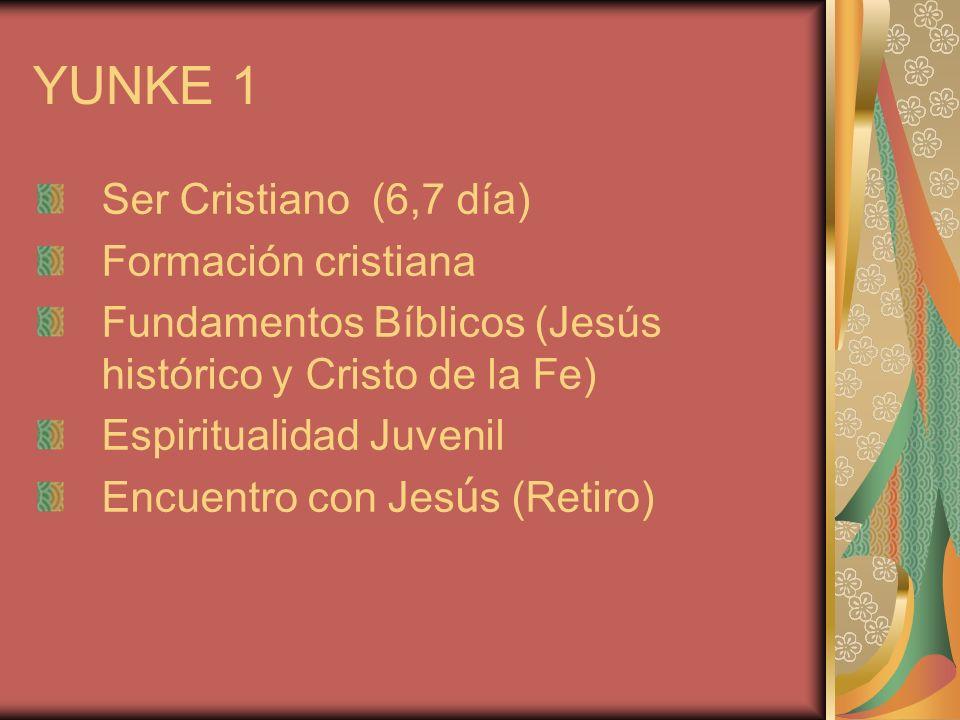 YUNKE 1 Ser Cristiano (6,7 día) Formación cristiana