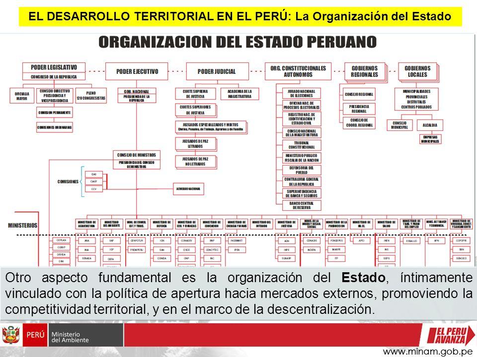 EL DESARROLLO TERRITORIAL EN EL PERÚ: La Organización del Estado