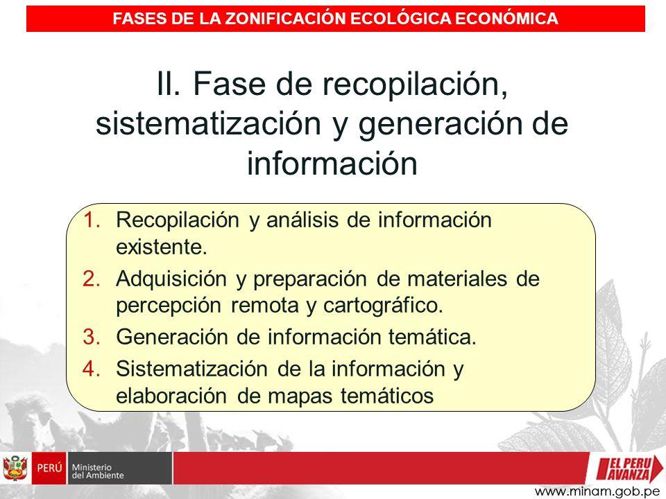 FASES DE LA ZONIFICACIÓN ECOLÓGICA ECONÓMICA