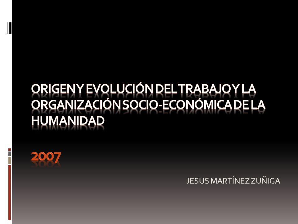 origen y evolución del trabajo y la organización socio-ecoNÓmica de la humanidad 2007