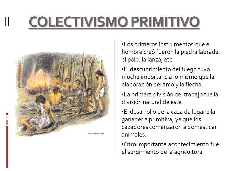 COLECTIVISMO PRIMITIVO