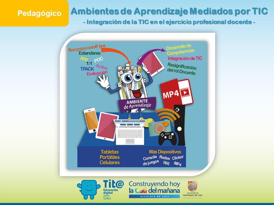 Pedagógico Ambientes de Aprendizaje Mediados por TIC - Integración de la TIC en el ejercicio profesional docente -