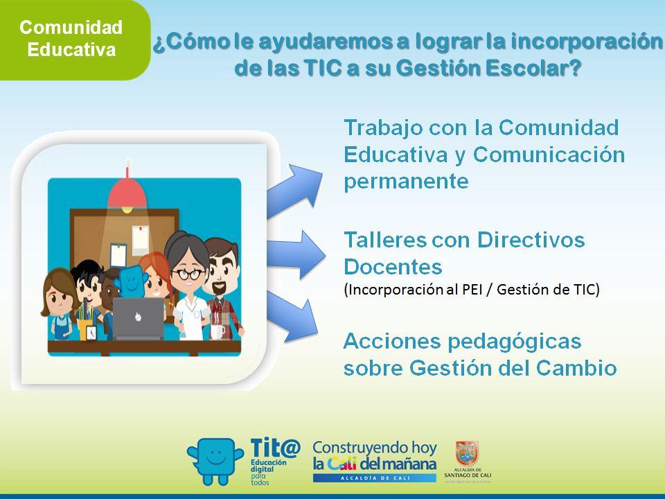 Comunidad Educativa ¿Cómo le ayudaremos a lograr la incorporación de las TIC a su Gestión Escolar