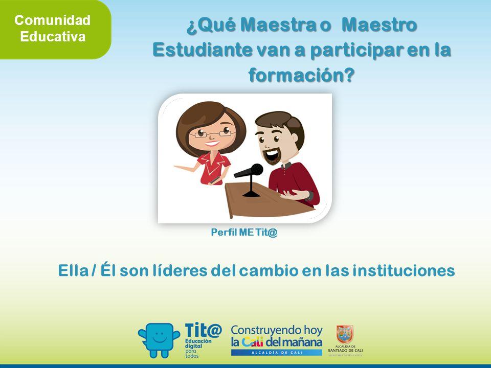 ¿Qué Maestra o Maestro Estudiante van a participar en la formación