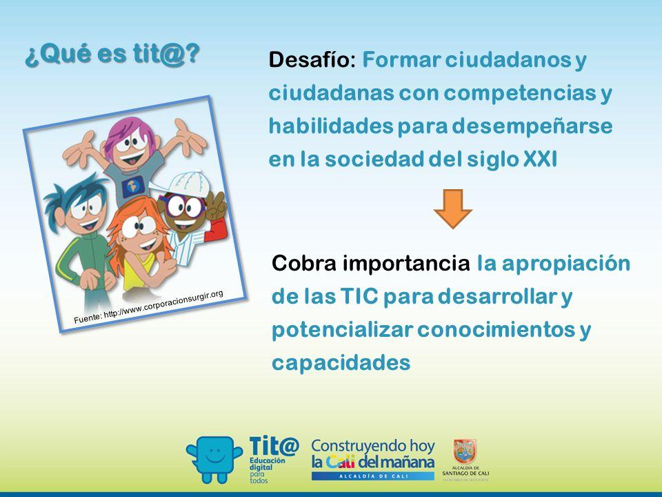¿Qué es tit@ Desafío: Formar ciudadanos y ciudadanas con competencias y habilidades para desempeñarse en la sociedad del siglo XXI.