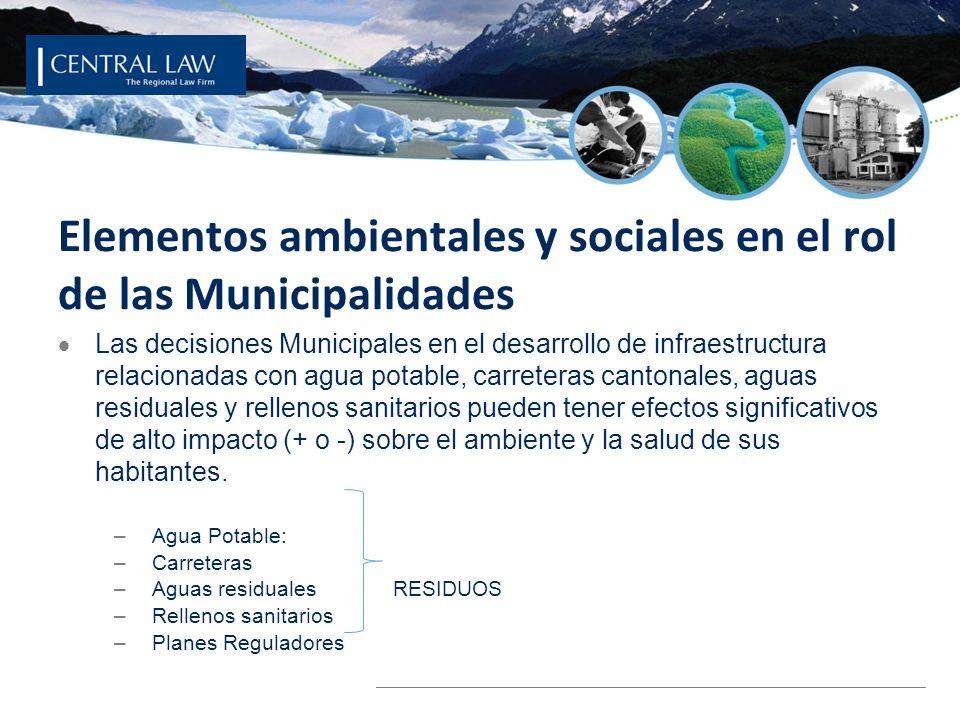 Elementos ambientales y sociales en el rol de las Municipalidades